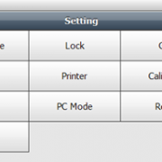 Screen Shot of C30 Settings Menu