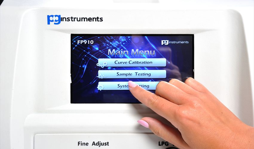 Main Menu Screen With Simple Touch Screen Task Selection