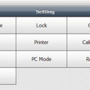 Screen Shot of C30 Settings Menu